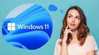 En kvinna med Windows 11 i tankarna