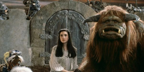 Jennifer Connelly with Henson puppets in Labyrinth