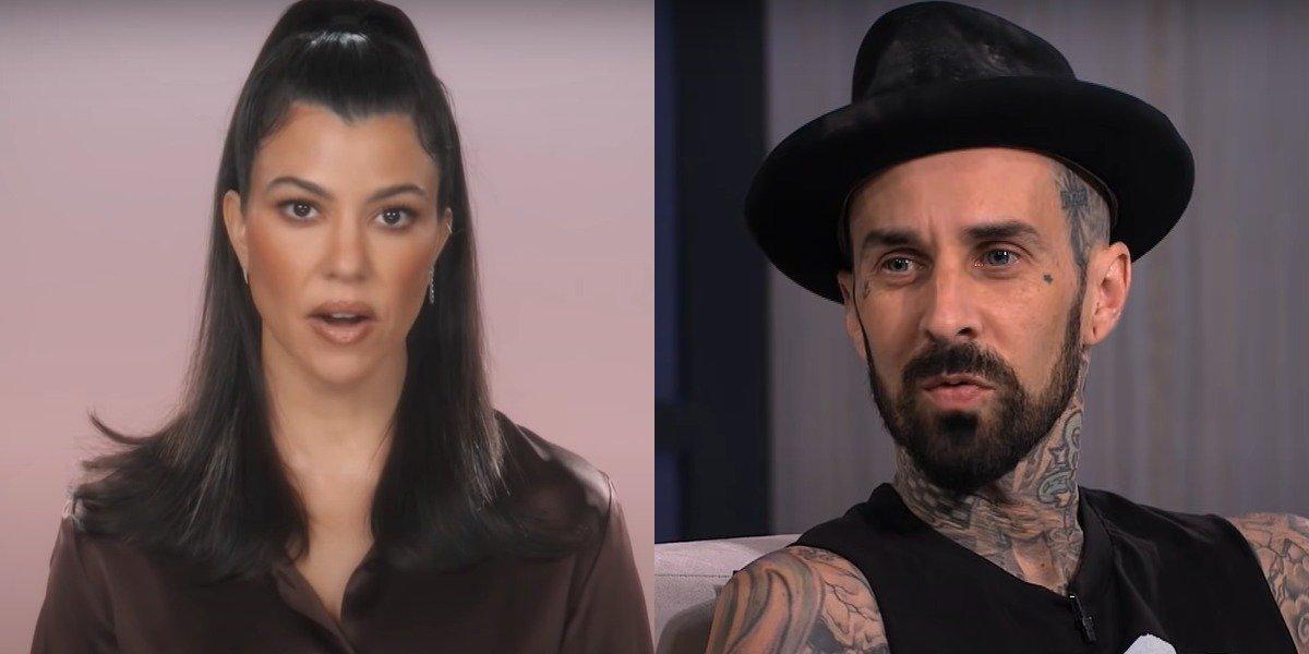 screenshot kourtney kardashian and travis barker