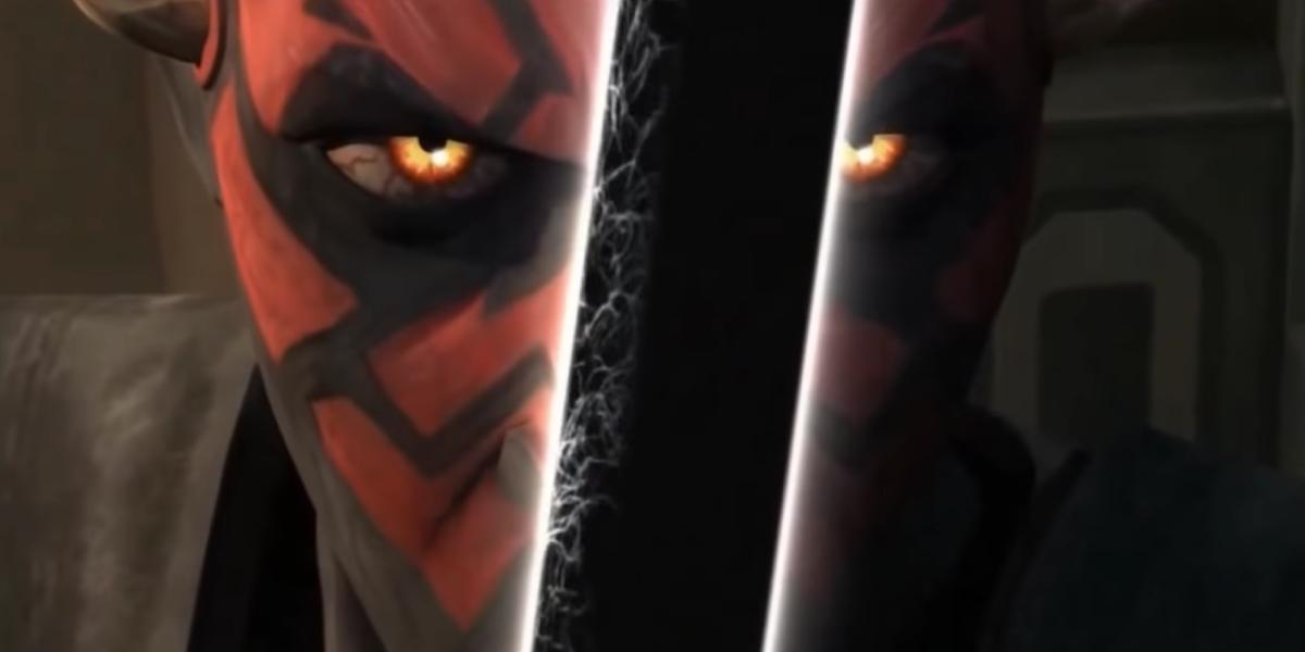 Darth Maul wields the Darksaber in Star Wars: The Clone Wars