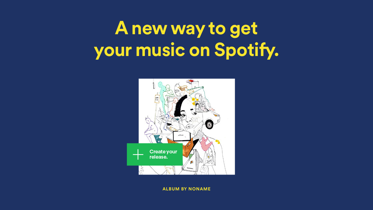Artists can now upload their music direct to Spotify for free