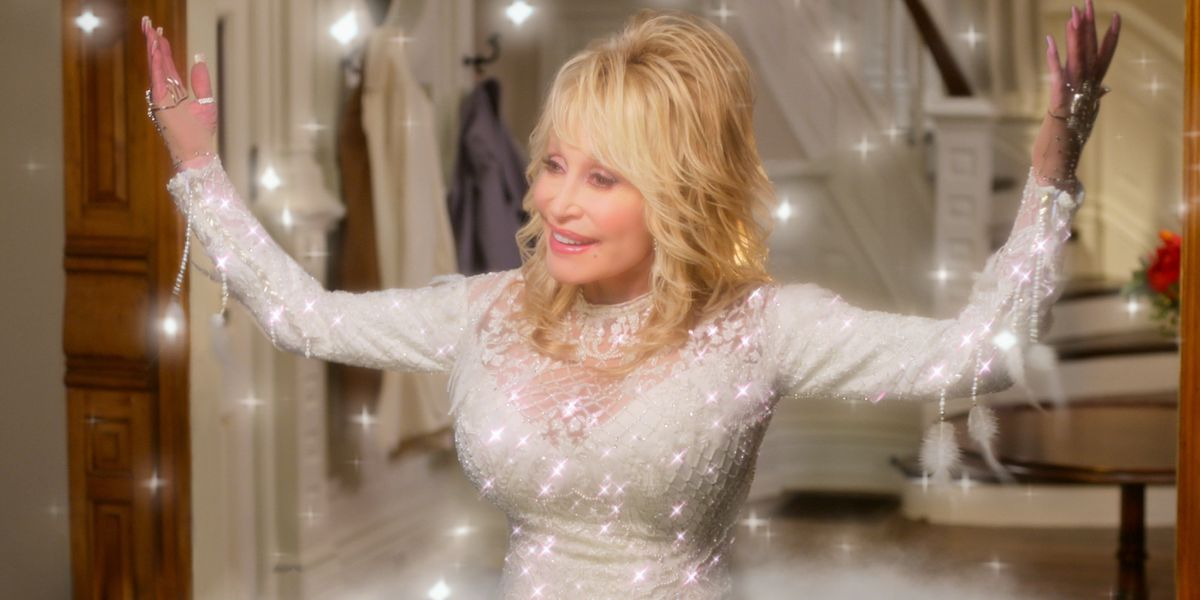 Dolly Parton during Christmas special