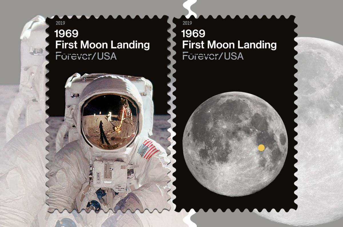 US Postal Service Reveals Stamps for Moon Landing 50th Anniversary