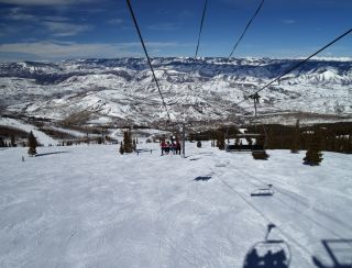 Skiing at Snowmass, CO.