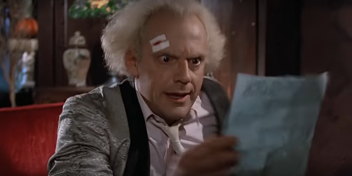 Back to the Future Dr. Emmett Doc Brown Christopher Lloyd Universal Pictures