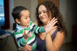 Two-year-old Gael, who was born with a severe immune disorder, now has a functioning immune system after treatment with an experimental gene therapy. Above, Gael with his mother Giannina Alva.