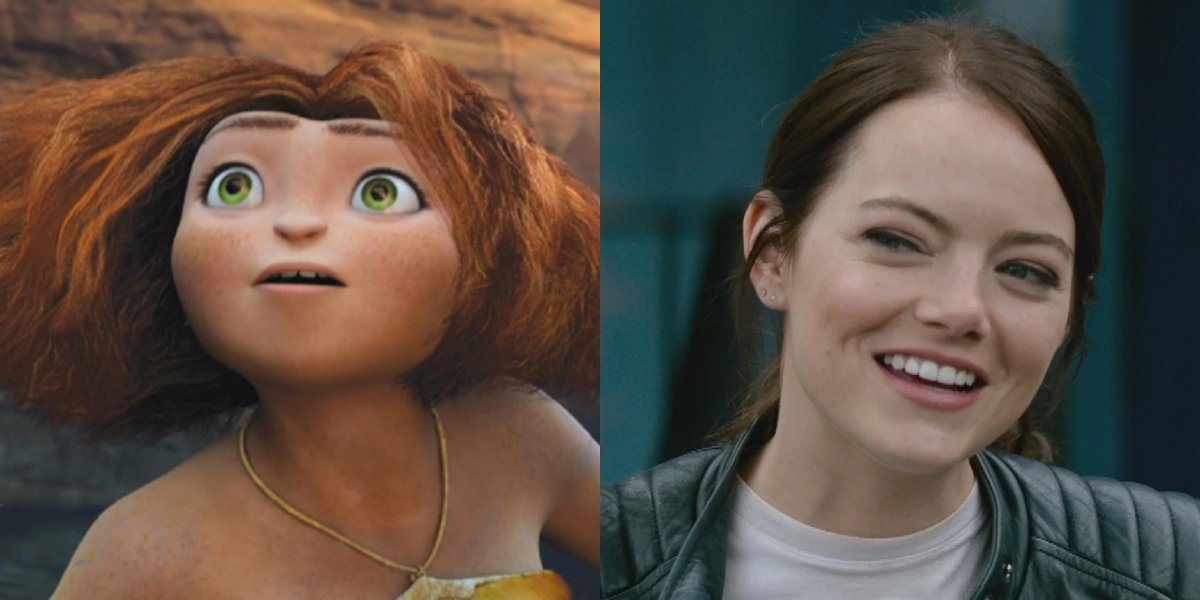 Eep Crood and Emma Stone