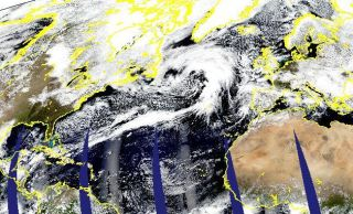 An image of the storm taken by the MODIS instrument on the Aqua satellite on March 27, 2013.