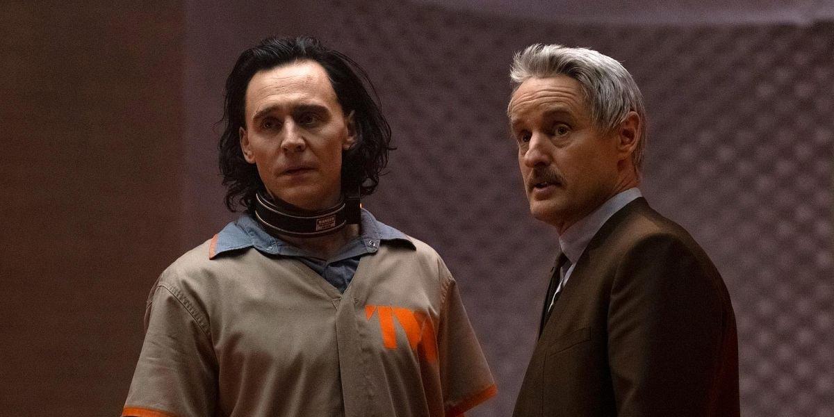 Tom Hiddleston as Loki and Owen Wilson as Mobius M. Mobius on Loki