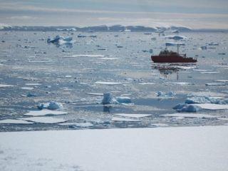 Antarctica icebreaker vessel