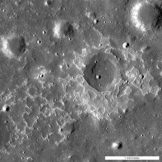 Irregular mare patch on moon