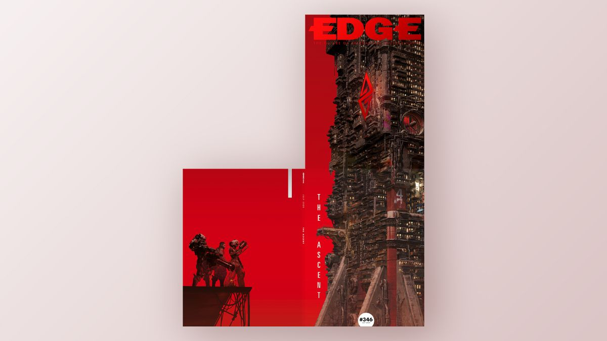 Edge magazine takes an extended look at The Ascent, featured on an unprecedented double-height cover
