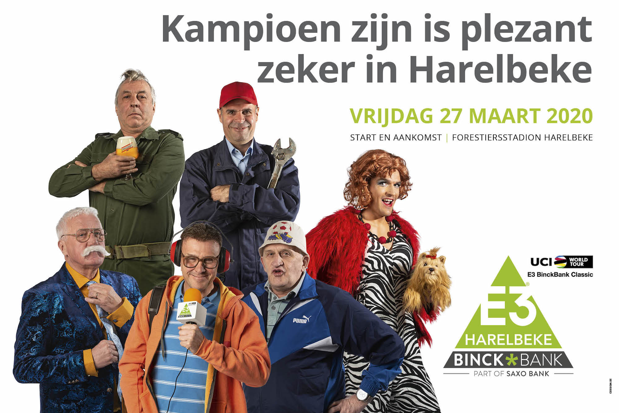 Greg Van Avermaet and Patrick Lefevere appear in bizarre new E3 BinckBank poster - Cycling Weekly