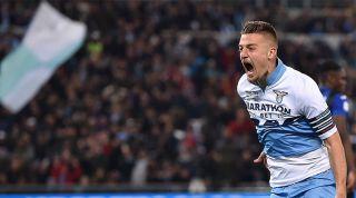 Sergej Milinkovic-Savic celebrating for Lazio