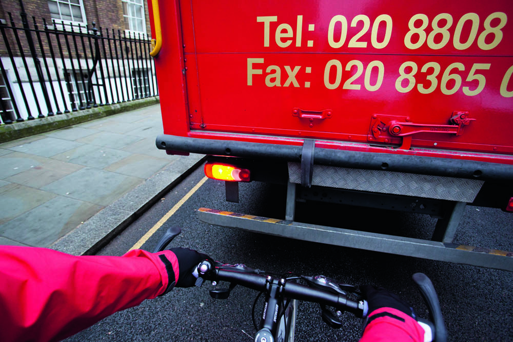 cycling, commuting, lorry, traffic, road