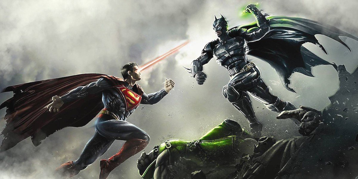 Superman fighting Batman in Injustice: Gods Among Us