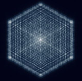 This fractal pattern was created with a laser light.