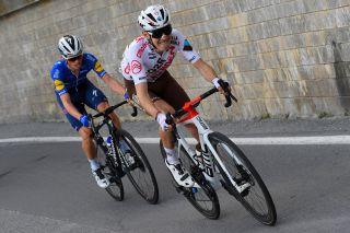 Trofeo Laigueglia 2021 58th Edition Laigueglia Laigueglia 202 km 03032021 Clement Champoussin FRA AG2R Citroen Team James Knox GBR Deceuninck QuickStep photo Dario BelingheriBettiniPhoto2021