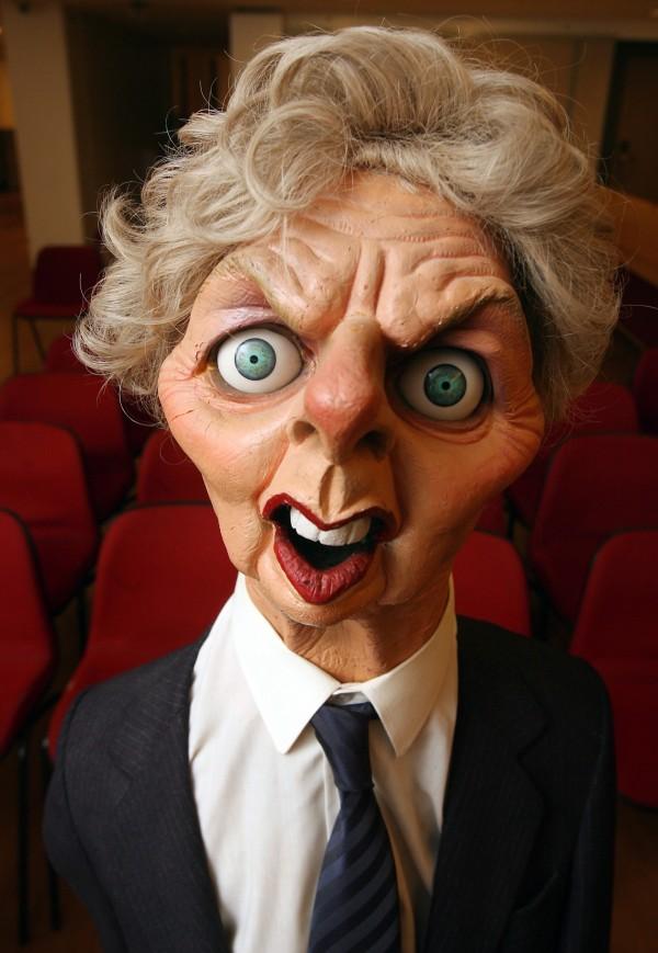 Spitting Image puppet of former Prime Minister Margaret Thatcher