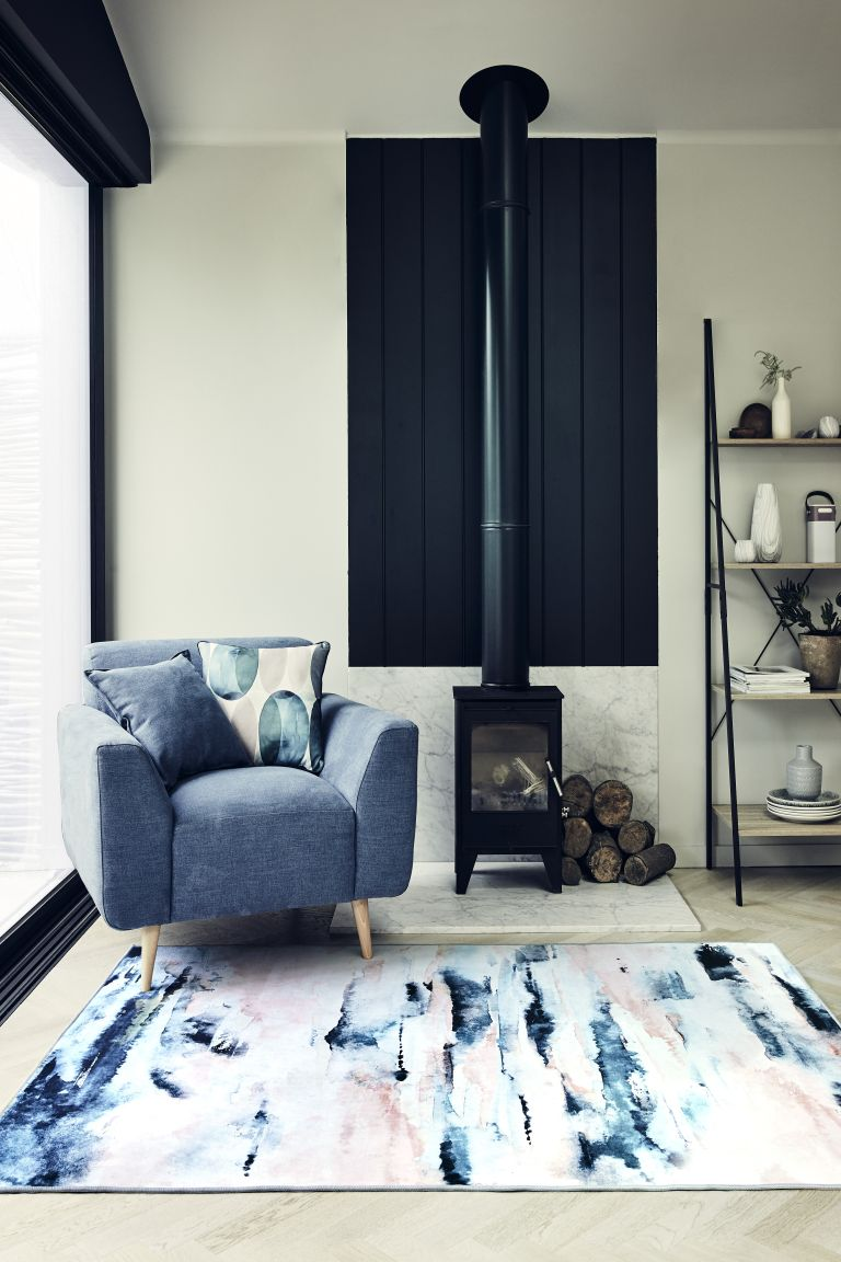 Very sale: blue living room