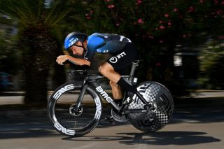 NTT's Victor Campenaerts in time trial action during stage 8 of the 2020 Tirreno-Adriatico