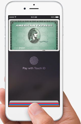 Apple Pay in action.
