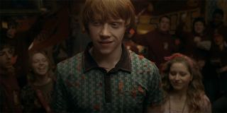 Ron celebrating a huge Quidditch victory