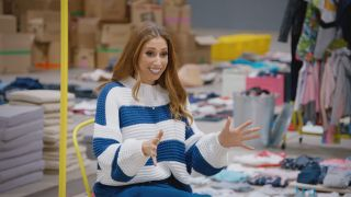 Stacey Solomon in Sort Your Life Out.
