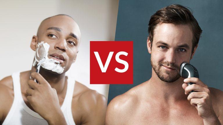 Electric shaver vs manual shave