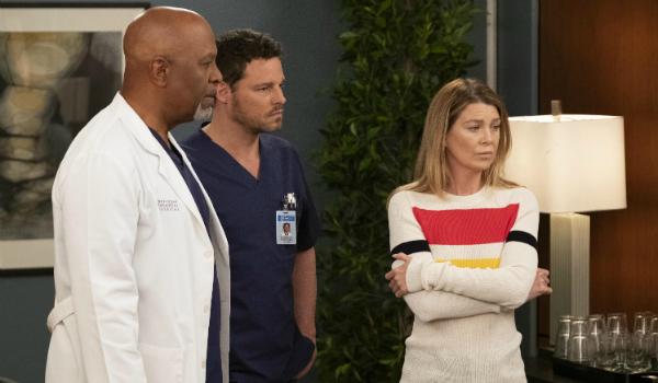 Grey's Anatomy Richard Webber James Pickens Jr. Alex Karev Justin Chambers Meredith Grey Ellen Pompe