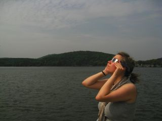 Viewing the 2009 total solar eclipse