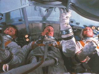 Apollo 1 Crew in Training Capsule