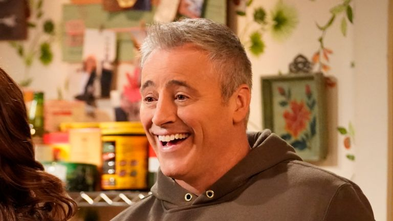 """Matt LeBlanc memes took over the Internet this weekend after the Friends star accidentally revealed his inner Irish dad LOS ANGELES - DECEMBER 12: """"Adam and Andi See Other People"""" - Adam and Andi attempt to spice up their social life by making new friends, on MAN WITH A PLAN, Thursday, May 28 (8:31-9:01 PM, ET/PT) on the CBS Television Network. Pictured (L-R): Liza Snyder as Andi and Matt LeBlanc as Adam. (Photo by Greg Gayne/CBS via Getty Images)"""