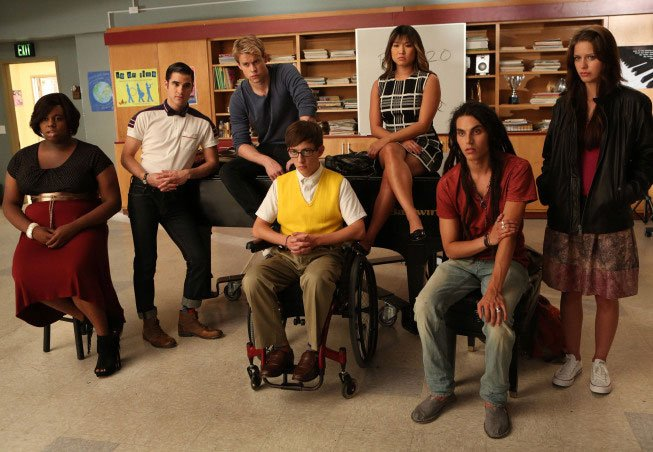 New Glee Photos Capture The Cast Channeling Britney Spears In Season 4 #23645