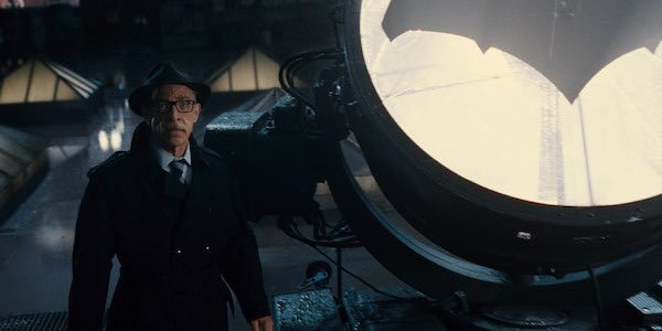 Gordon with the Bat-signal