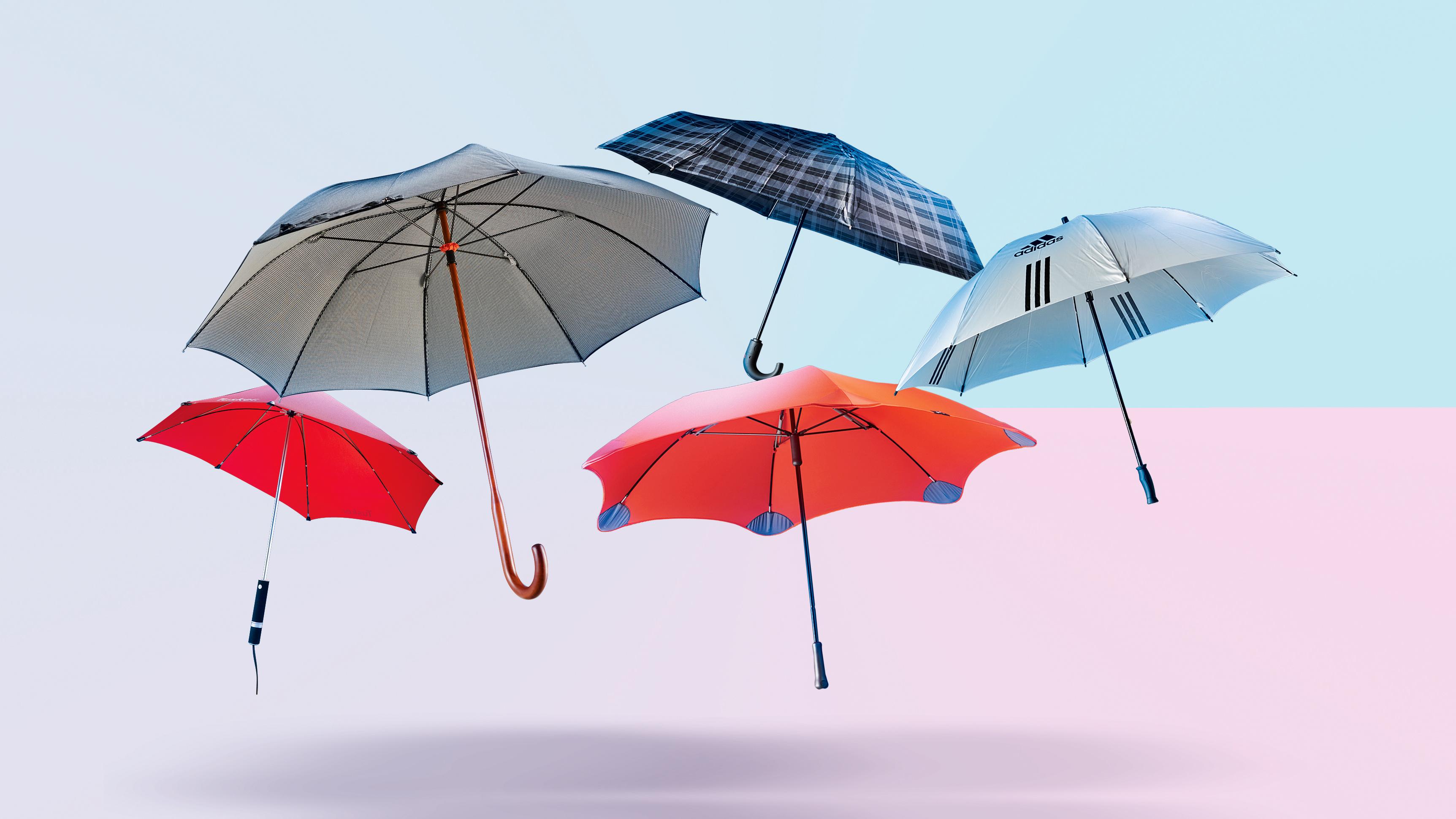 Pure Black Umbrella Senz° Manual Stormproof Folding UV 50