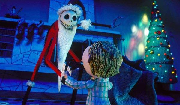 The Nightmare Before Christmas Santa Jack bringing presents