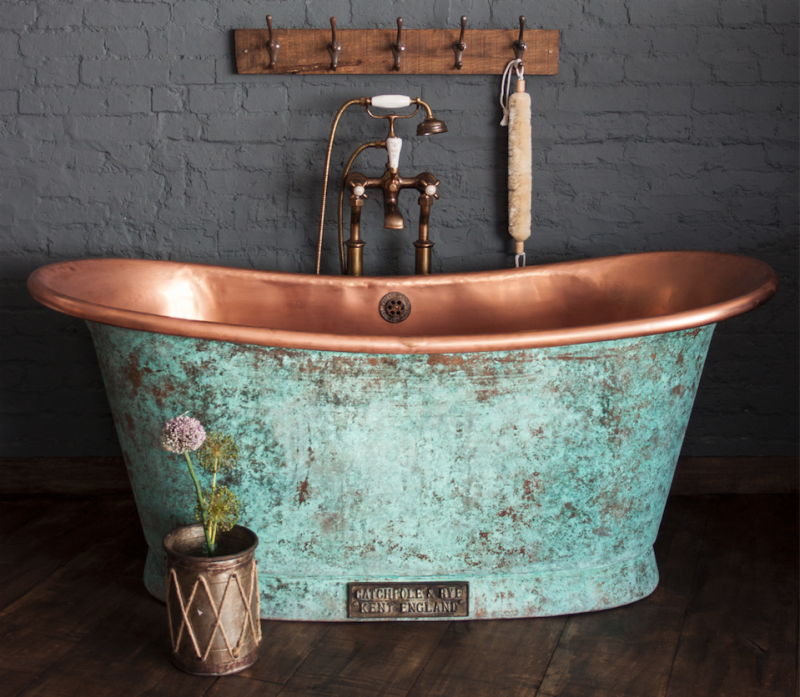 Santorini Freestanding Bathtub In Polished Copper CPS944 CPS942 ...