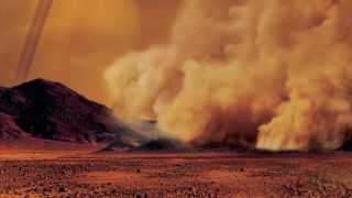 Titan dust storm