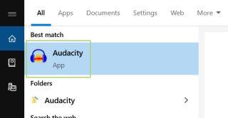 Windows 10 Audacity