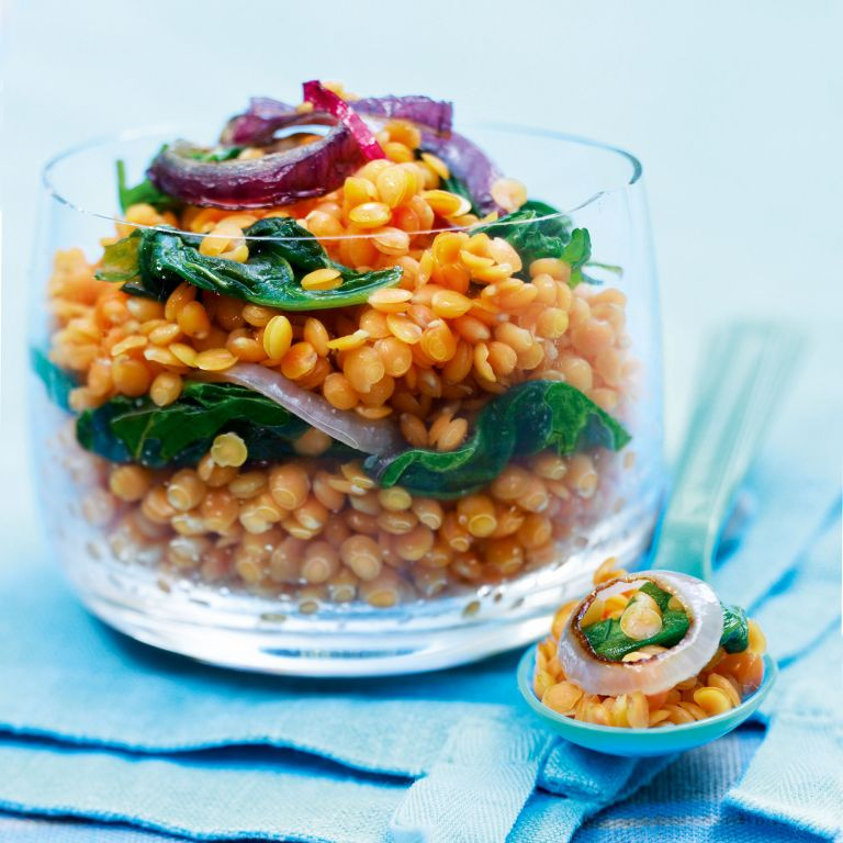 Curried lentils photo