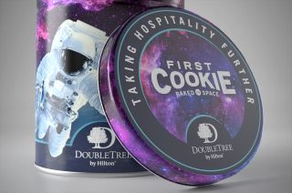 DoubleTree by Hilton is celebrating its upcoming role in baking the first cookies in space by offering collectible cookie tins.
