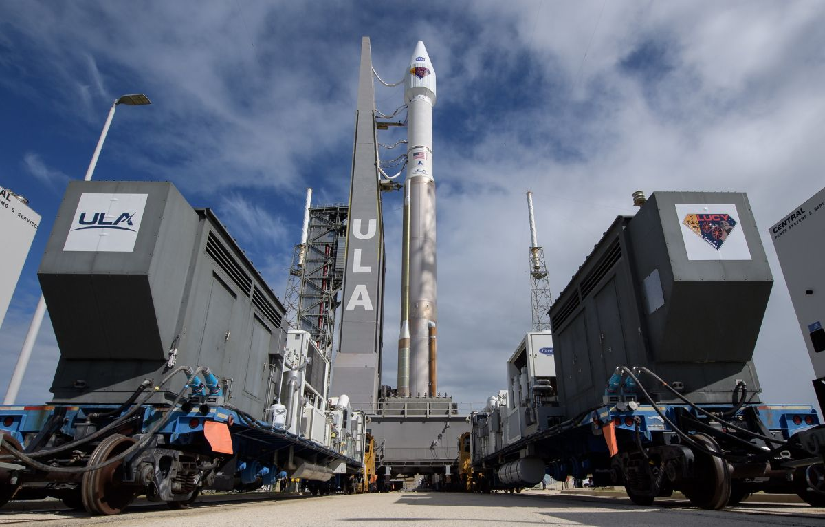Rocket rolls out to launch NASA's ambitious asteroid mission Lucy