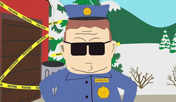 Officer Barbrady on South Park