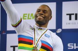 France's Gregory Bauge world title in the men's sprint