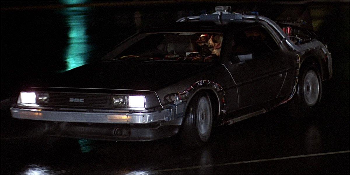 DeLorean Time Machine in Back To The Future