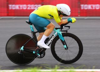 OYAMA JAPAN JULY 28 Grace Brown of Team Australia rides during the Womens Individual time trial on day five of the Tokyo 2020 Olympic Games at Fuji International Speedway on July 28 2021 in Oyama Shizuoka Japan Photo by Tim de WaeleGetty Images