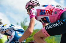 Ryder Hesjedal (Garmin-Barracuda) in the maglia rosa