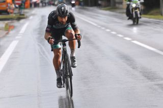 TORTORETO, ITALY - OCTOBER 13: Peter Sagan of Slovakia and Team Bora - Hansgrohe / Breakaway / Rain / during the 103rd Giro d'Italia 2020, Stage 10 a 177km stage from Lanciano to Tortoreto / @girodiitalia / #Giro / on October 13, 2020 in Tortoreto, Italy. (Photo by Tim de Waele/Getty Images)