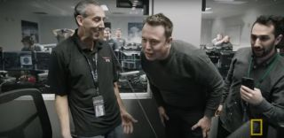 Elon Musk showed childlike joy during the first historic landing of a Falcon 9 reusable rocket booster.